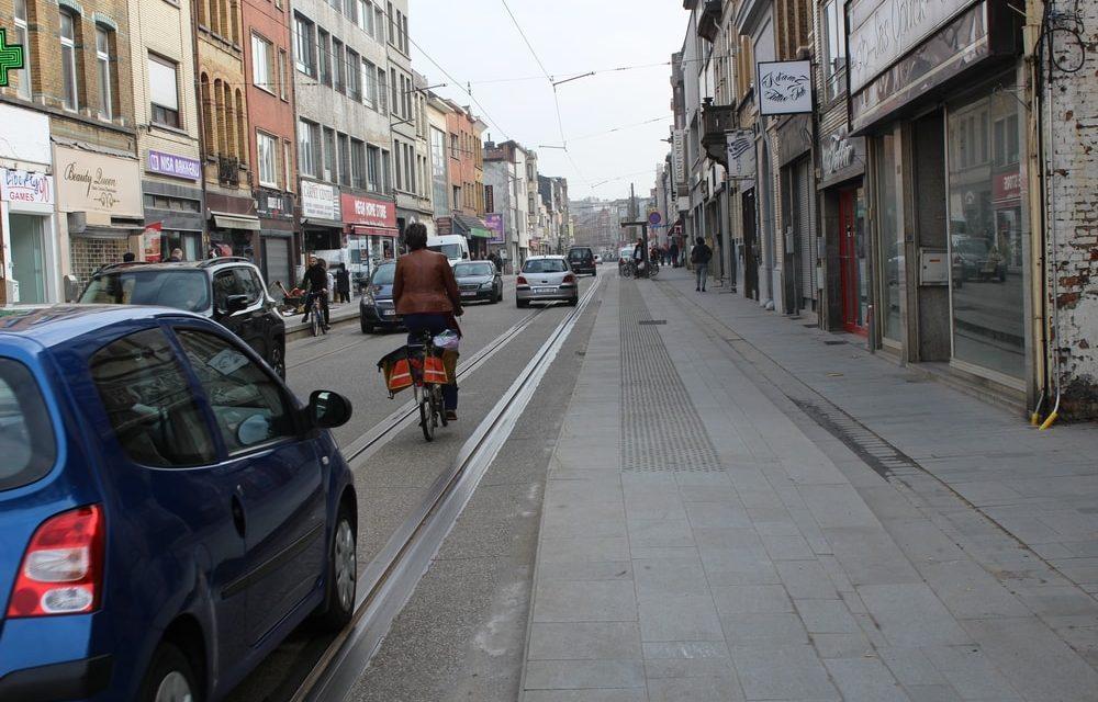 De vernieuwde Herentalsebaan is een risico voor fietsers