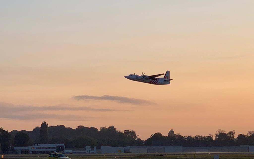 Eerste vliegtuig van Air Antwerp is opgestegen naar Londen