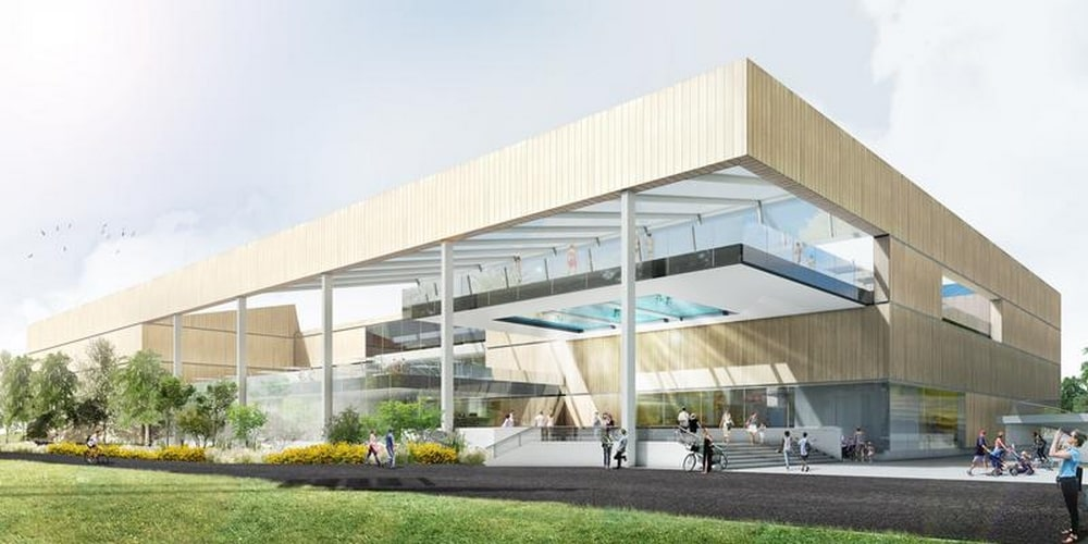Start bouw sportcentrum Sportoase Groot Schijn