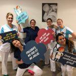 Medewerkers van AZ Monica laten zich vaccineren tegen de griep