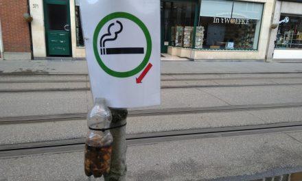 Strijd tegen sigarettenpeuken