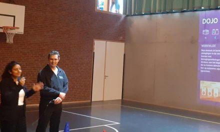 Een school met een 'interactieve bewegingswand'
