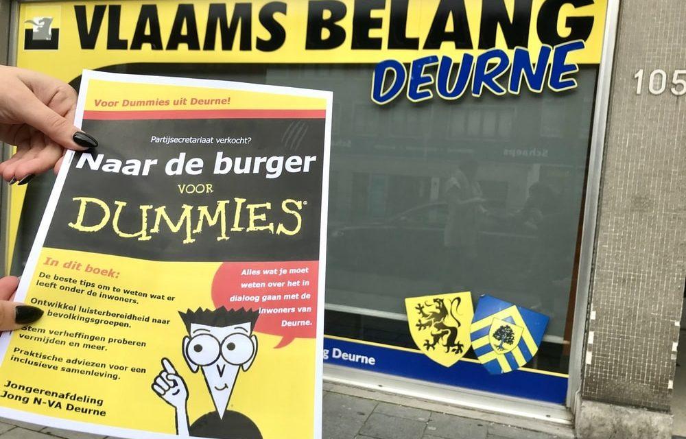 Vlaams Belang sluit secretariaat met een cadeautje van jong N-VA