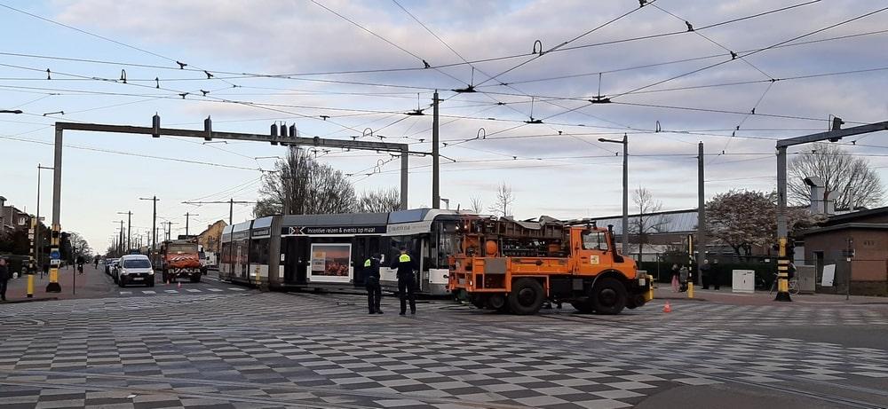 Tram ontspoord