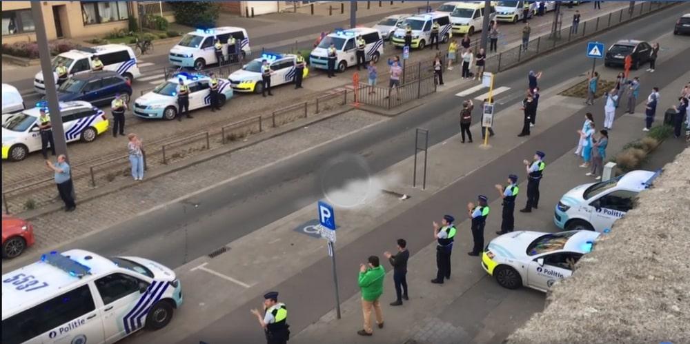 Politie massaal aanwezig voor AZ Monica