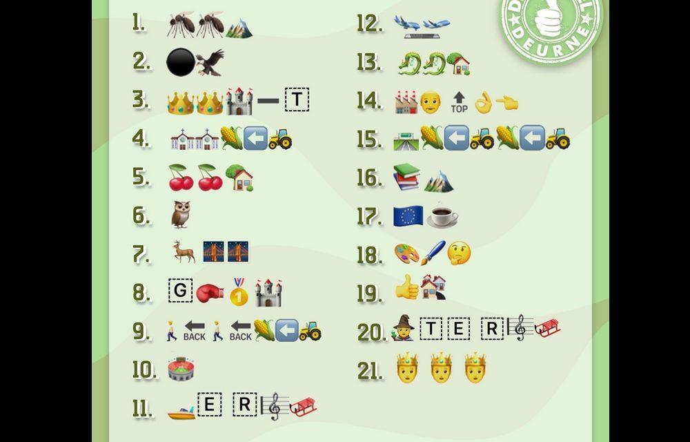 Wie herkent de 21 buurten van Deurne?