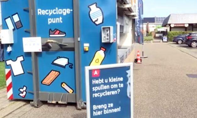 Met een boodschappentas naar het mini-recyclagepark