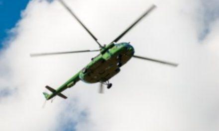 Kaping van een helikopter op de luchthaven van Deurne