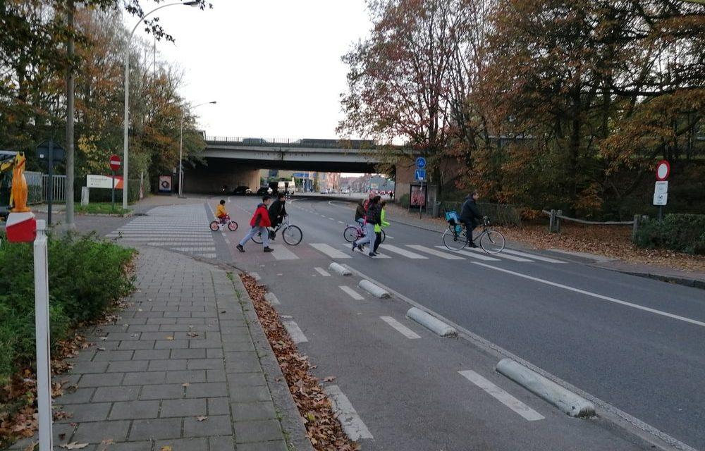 Verkeerskussens op de Sterckshoflei