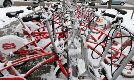 Deelfietsensysteem Velo slaat tilt door winterweer