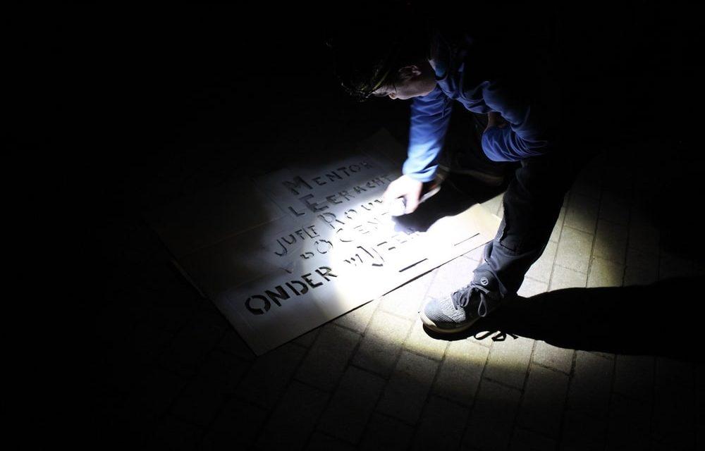 Nachtelijke bezoekers laten teksten na