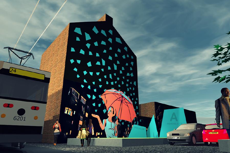 Kunstwerk op de Herentalsebaan nadert zijn voltooiing