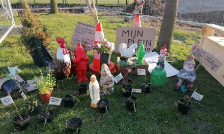 Protest van de tuinkabouters