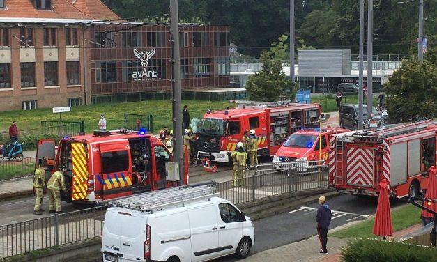 Een brand en een ongeval op hetzelfde ogenblik