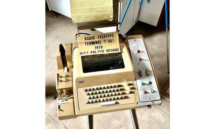 Uniek communicatiemiddel dat door de Deurnese politie werd gebruikt
