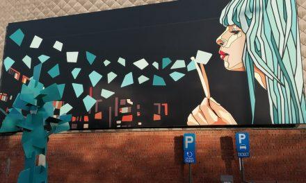De Herentalsebaan is getooid met een kunstwerk